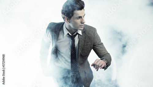 Old fashion style photo of handsome man