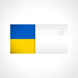 Envelope with Ukrainian flag card