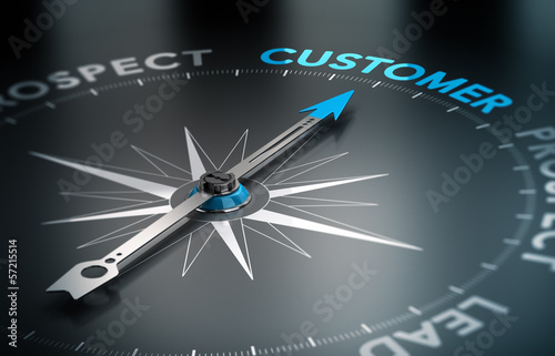 canvas print picture Business - Customer Concept