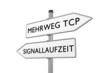 Mehrweg TCP / Signallaufzeit