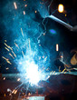 Welder in action