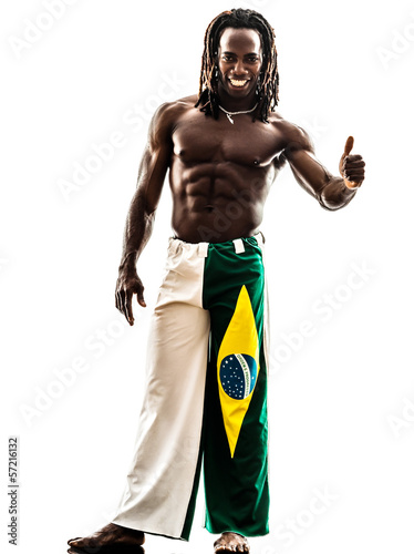 brazilian  black man thumb up