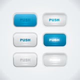 Blue and white push buttons