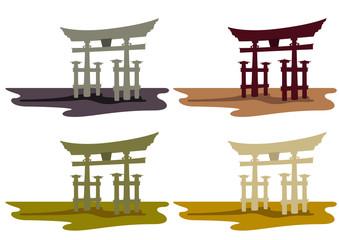 「厳島神社の大鳥居」宮島 広島県