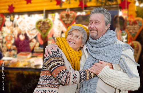 canvas print picture senior couple
