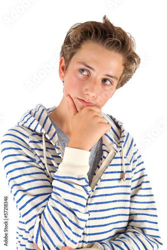 Nachdenklicher Teenager