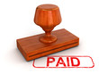 Rubber Stamp Paid (clipping path included)