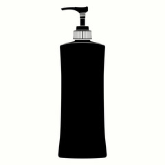 Pump Plastic Bottle  Silhouette vector