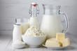Leinwandbild Motiv Dairy products