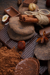 Chocolate assorment background