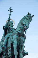 Statue of Saint Stephen in Budapest