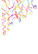 Party Background Streamers Color Mix Poster A4