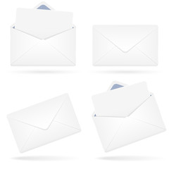 Set of envelopes. Vector illustration.