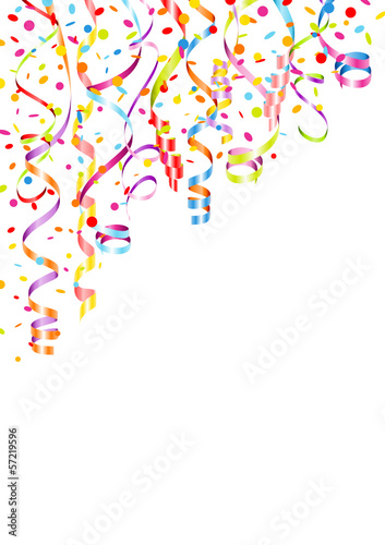 Quot Party Background Streamers Amp Confetti Color Mix Poster A4