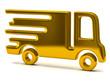 Golden illustration of delivery truck