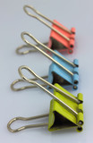 Three color clips for papers