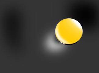 bottone su sfondo nero