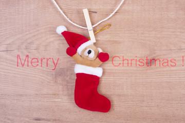 adorno de navidad sobre fondo de madera