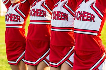 Group of Cheerleaders in a Row