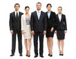 Full-length portrait of group of business people, isolated