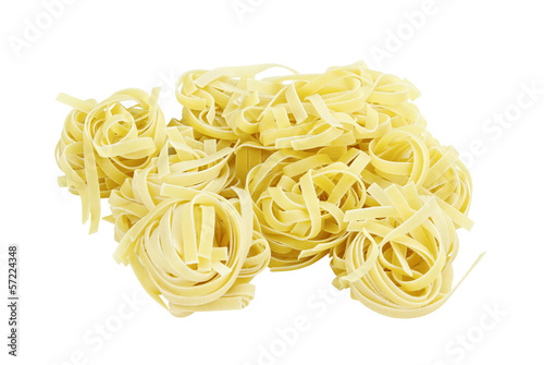 Group of Italian Pasta Fettuccine Nest