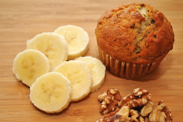 Healthy Banana Nut Muffing Snack