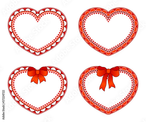 Ornate hearts