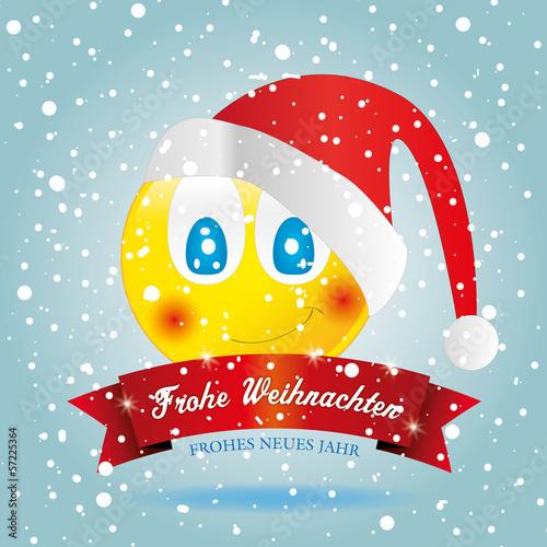 karte hintergund weihnachten smilies smiley schnee blau. Black Bedroom Furniture Sets. Home Design Ideas