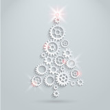 Fototapety Mechanical Christmas tree
