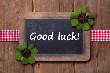 Good luck - Glück wünschen zum neuen Jahr