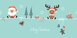 Christmas Santa & Rudolph Glasses Symbols Retro