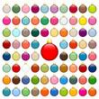 Collection Of 77 Christmas Balls Uni Color Gold