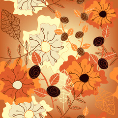 vector seamless seasonal pattern