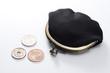 がま口財布と硬貨