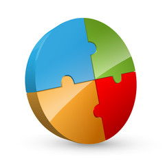 3D Pie Chart Jigsaw Puzzle (diagram graph chart button icon)