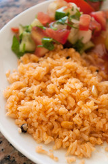 delicious pilaf on a plate