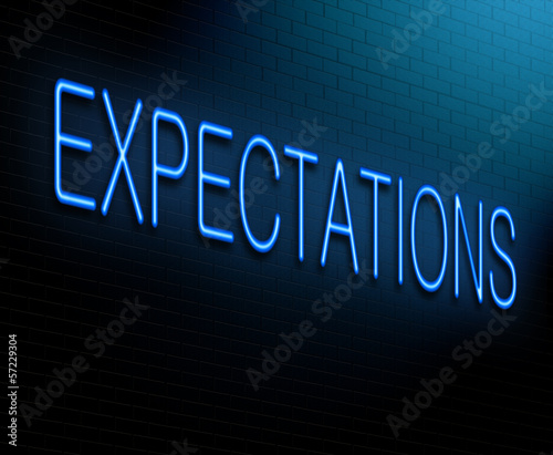 Expectations concept.