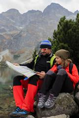 Trekkers - family adventure on mountain trek