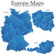 Deutschland Bundesländer Karte Polen Österreich