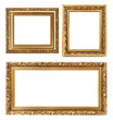 Vintage decorative antique frames, isolated on white background