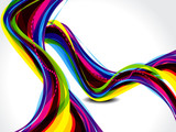 abstract rainbow color wave