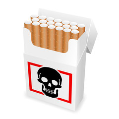 zigarettenschachtel totenkopf I