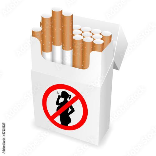 zigarettenschachtel rauchen in der schwangerschaft I