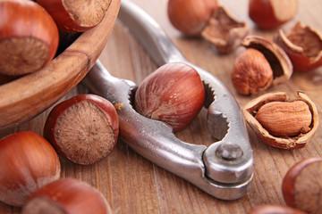 hazelnut and nutcracker
