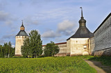 Walls and towers of Kirillo-Belozersky monastery, Russia