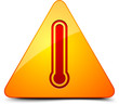 Danger Hot temperature sign