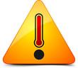 Danger Hot temperature sign