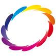 Bunte Tropfen im Kreis - Logo