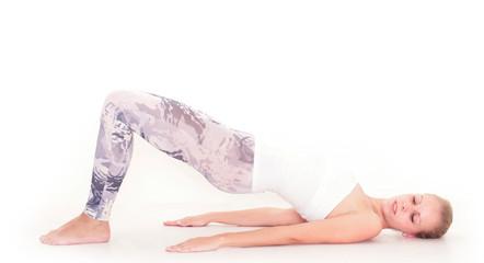 junge Frau in Leggings