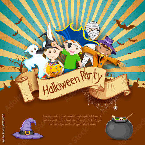 Kids in Halloween Party